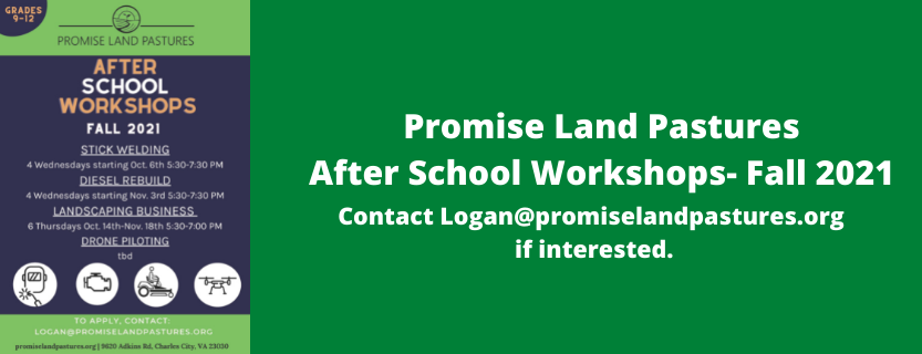 Promised Land Pasture After School Programs