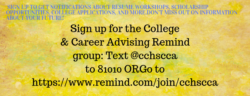 College and Career Remind Sign Up