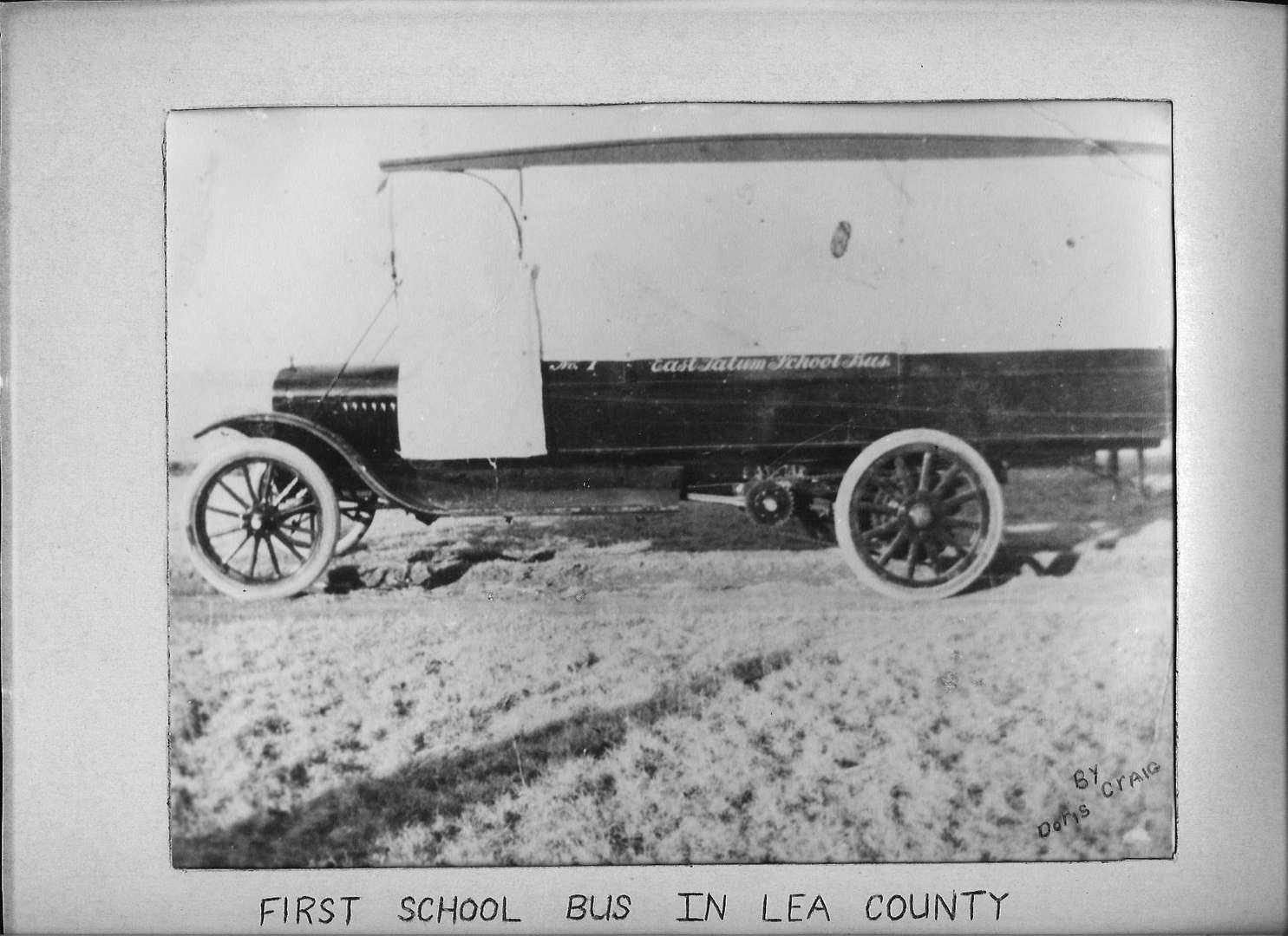 First School Bus in Lea County - East Tatum School Bus - No. 1
