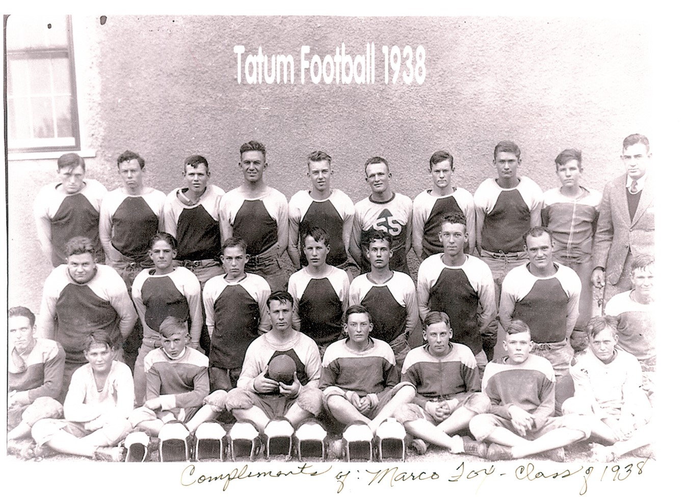 1938 Tatum Football Team - If you can identify anyone please let us know!