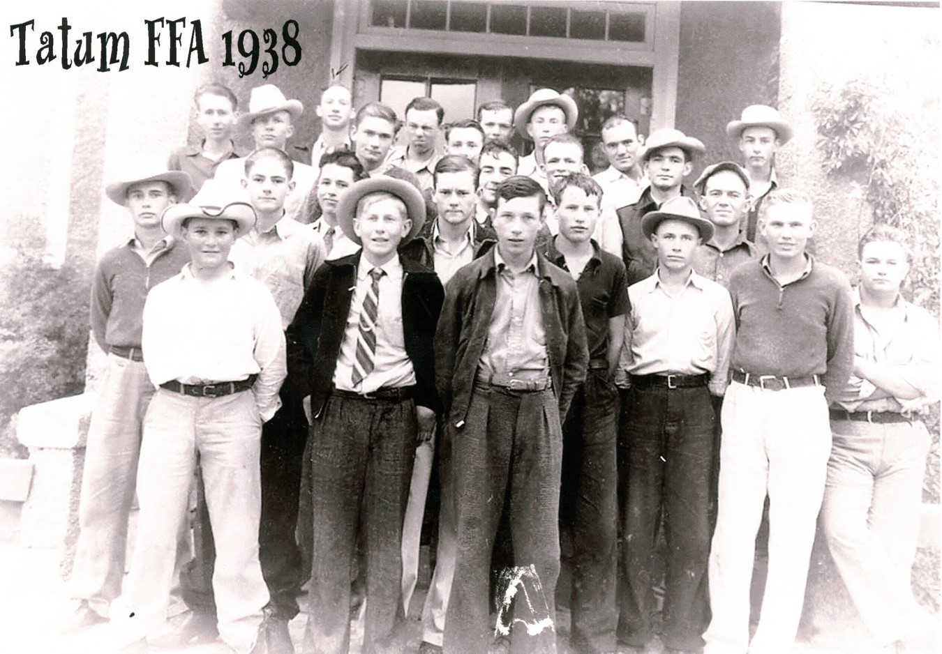 1938 Tatum FFA Class - If you can identify  anyone please let us know!