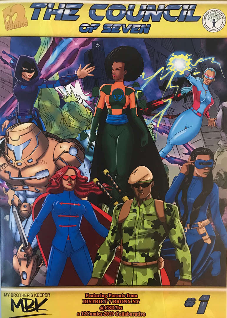 The Council of Seven Comic Book Cover