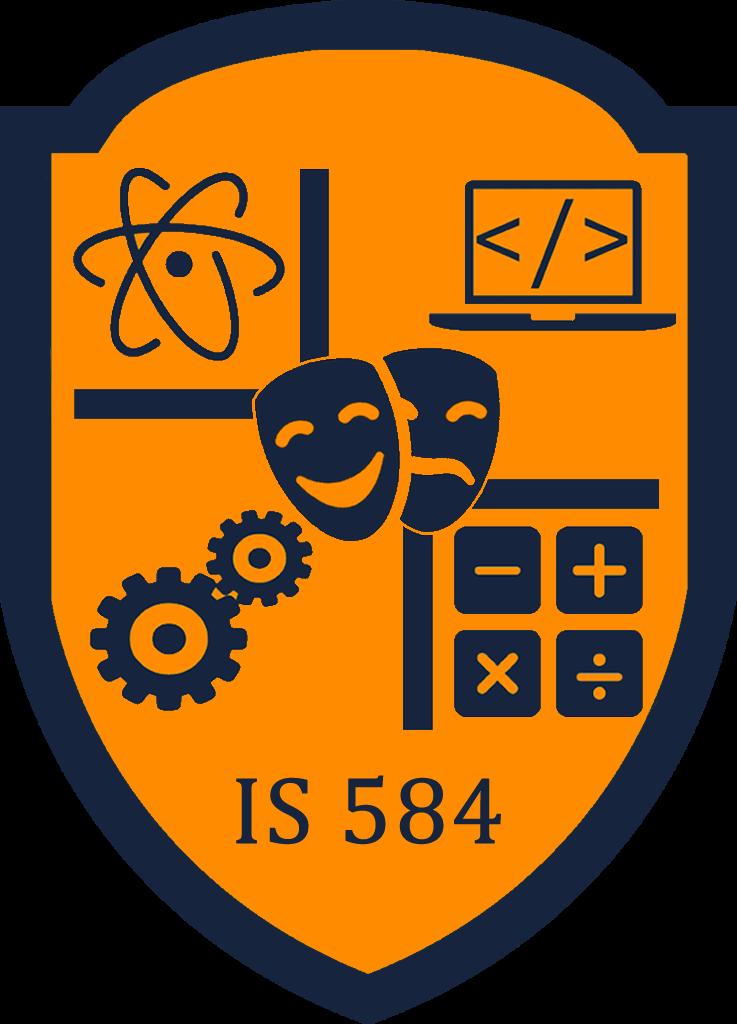 IS 584 logo
