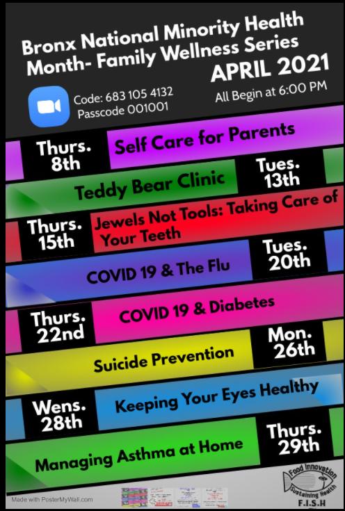 Bronx National Minority Health Month.