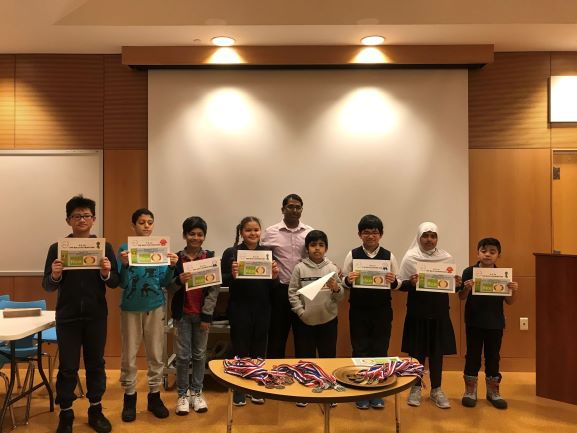 'Free Rice Contest' winners within grade level.