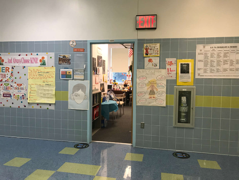 Principal, Maureen O'Neill's office entrance way.