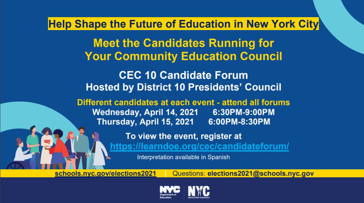 CEC 10 Candidate Forum.