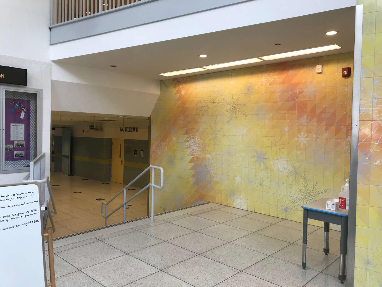 Lobby leading towards the library.