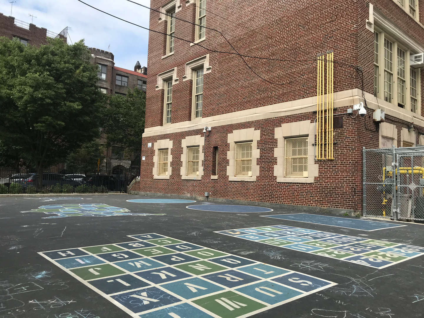 PS 56 school yard on South end.