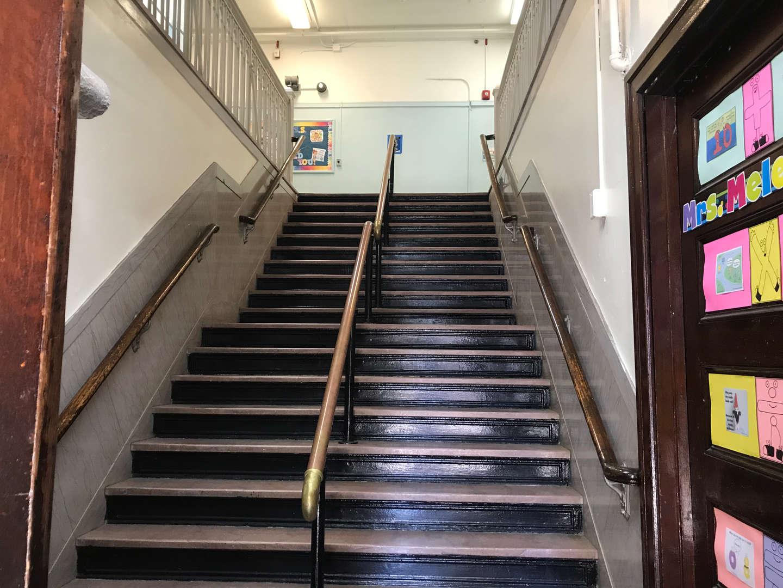 Original main entrance staircase.