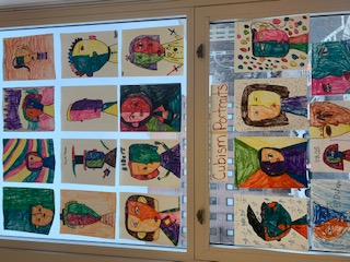 Students work sample in art class.