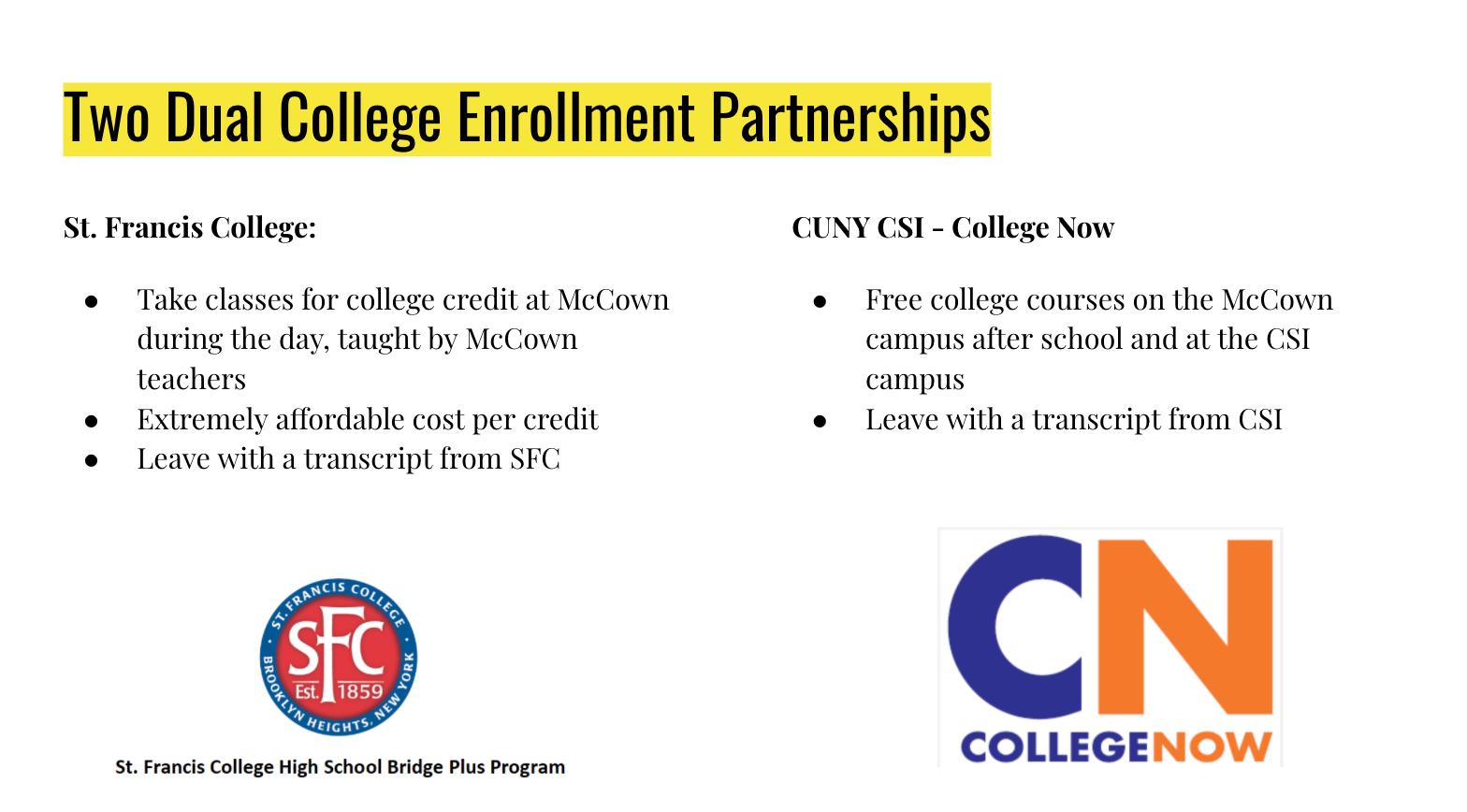 dual enrollment partnerships