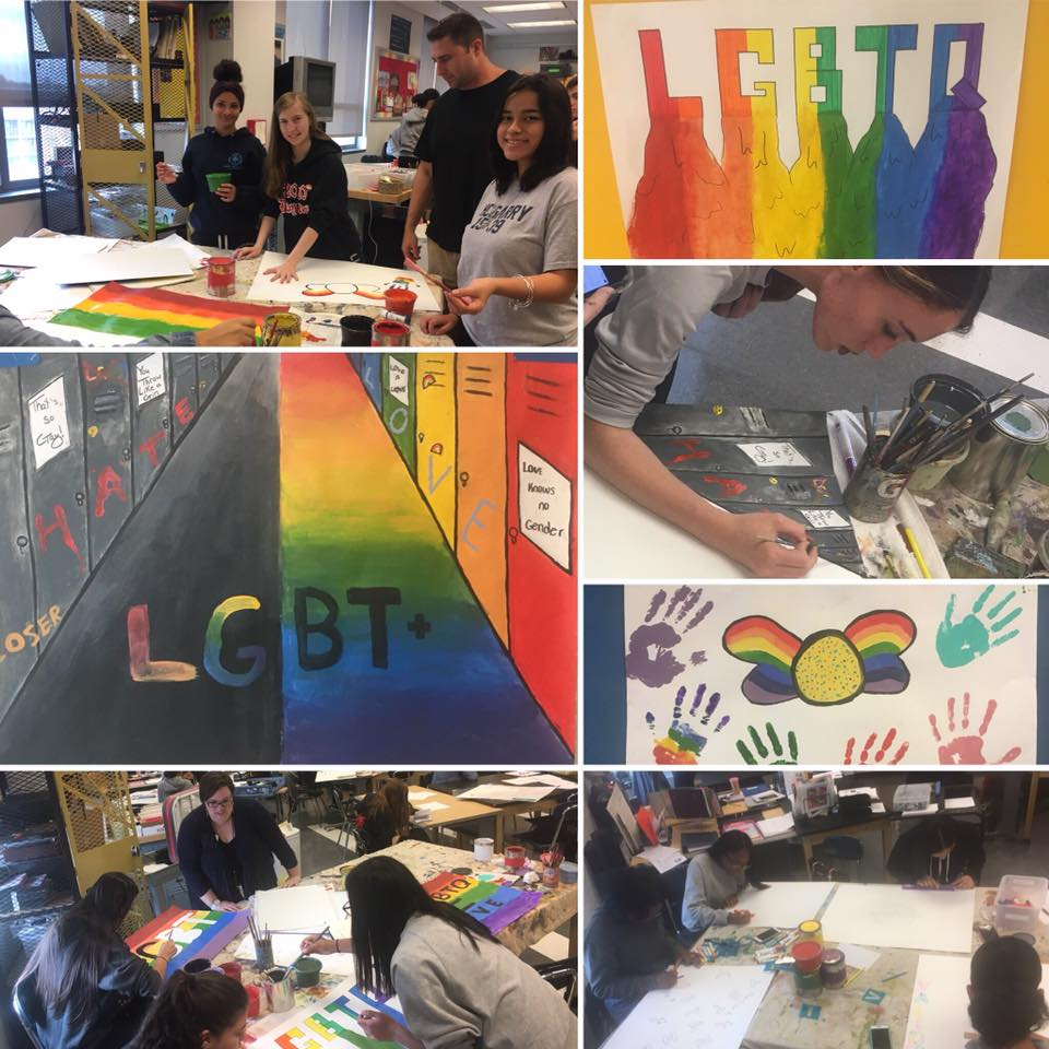 LGBT artwork by students