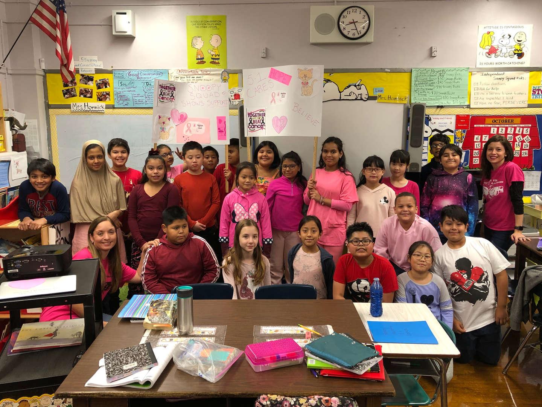Class 5-1 Breast Cancer Walk Participants