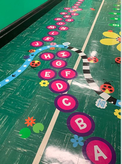 Alphabet activity in our Sensory Hallway
