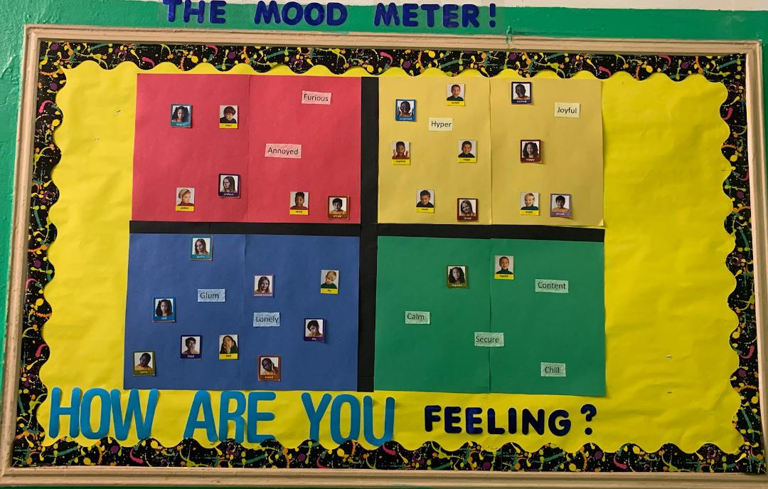 A mood meter helps students monitor their emotions