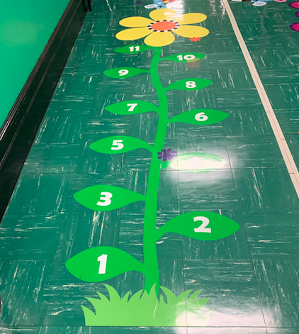 Number activity in our Sensory Hallway