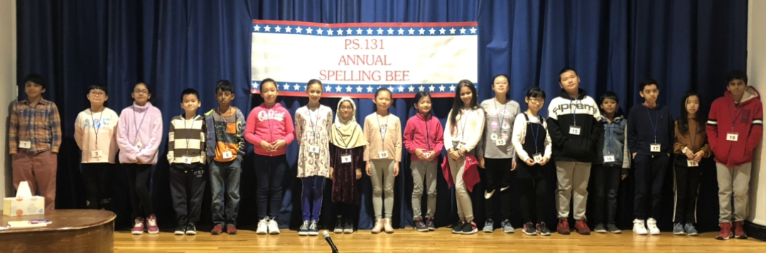Group of Spelling Bee participants