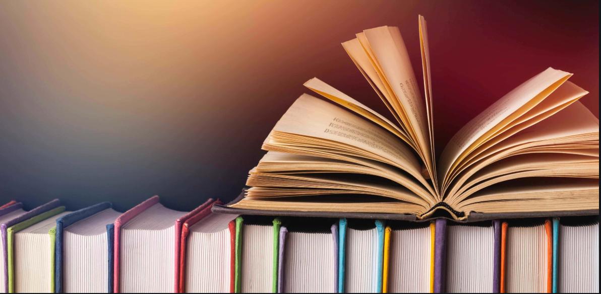 books on a shelf gif