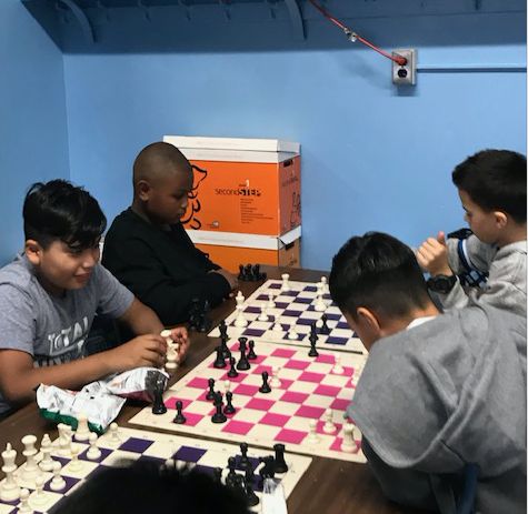 Two Chess games in progress.