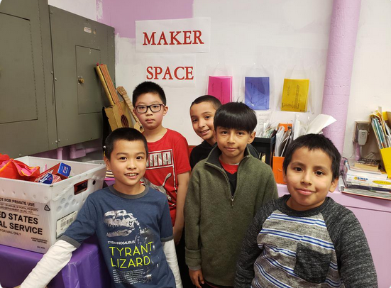 5th grade maker space students