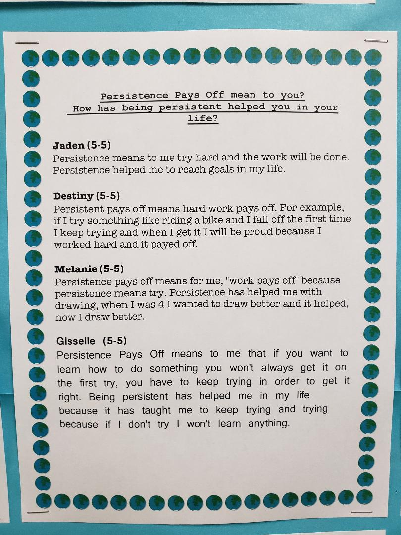 Persistence Pays Off Student work 5-5
