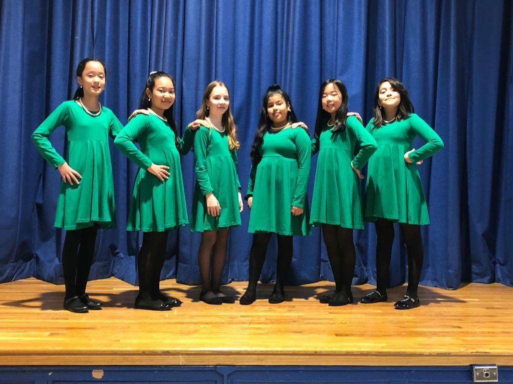 The Green Team Female Ballroom Dancers