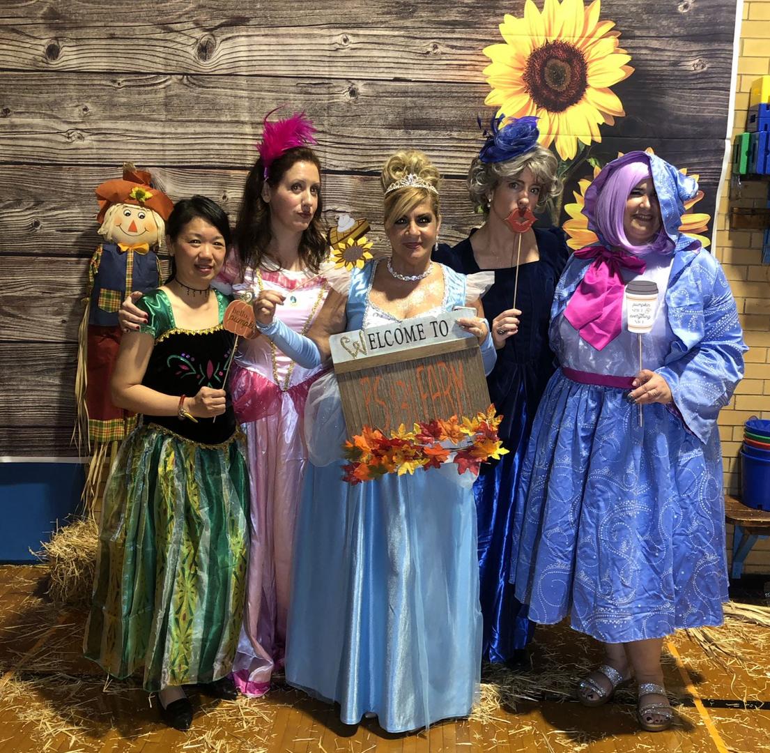 Teachers dress up for the Fall festival