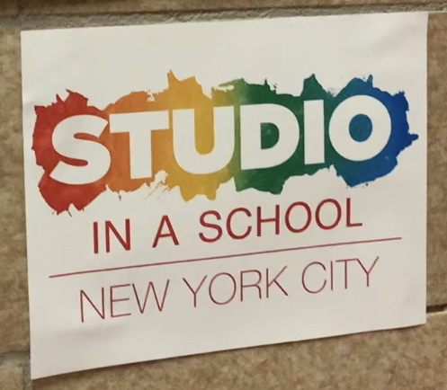 Studio in a School NYC sign