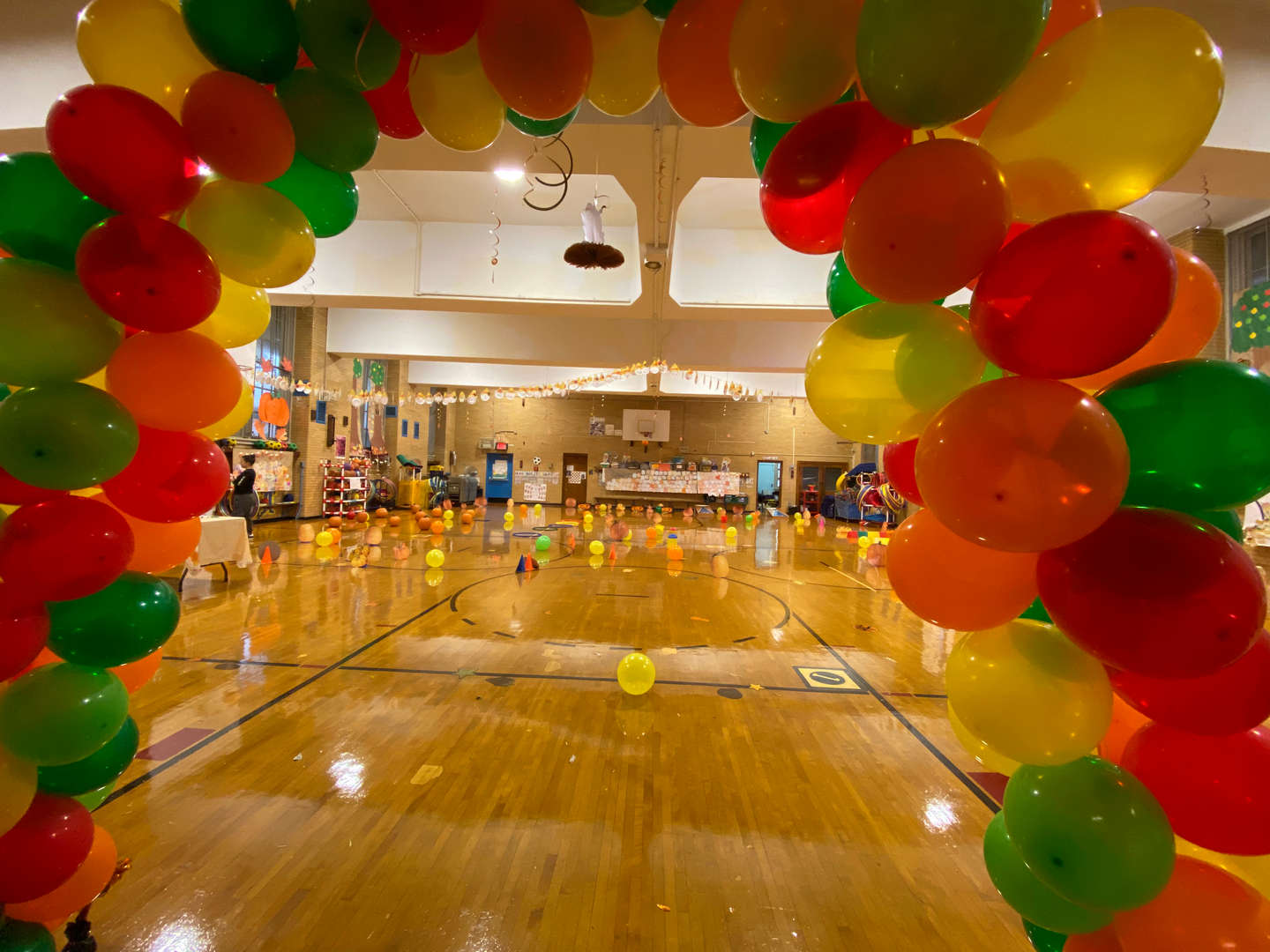 Entrance to our Fall Festival in the Gym