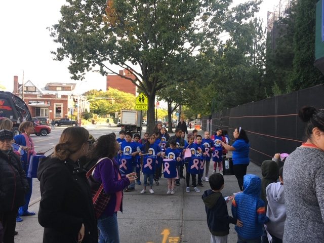 PS 131's Bucket Band performs during the Breast Cancer Walk