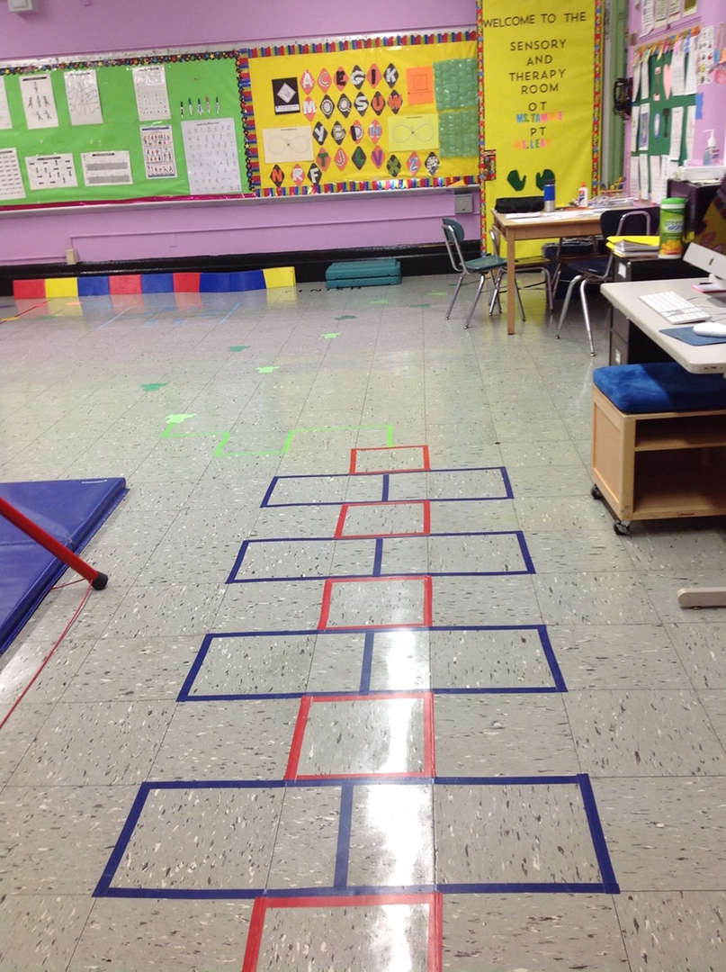 Hopscotch game in our Sensory Room