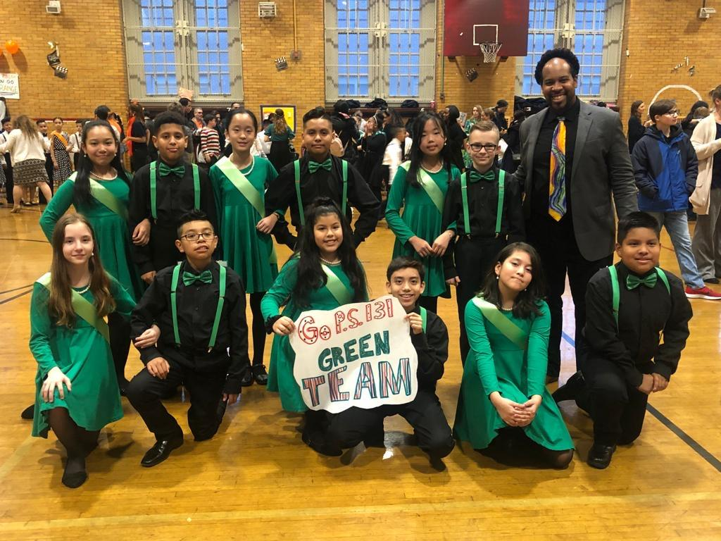 The Green Team with their instructor