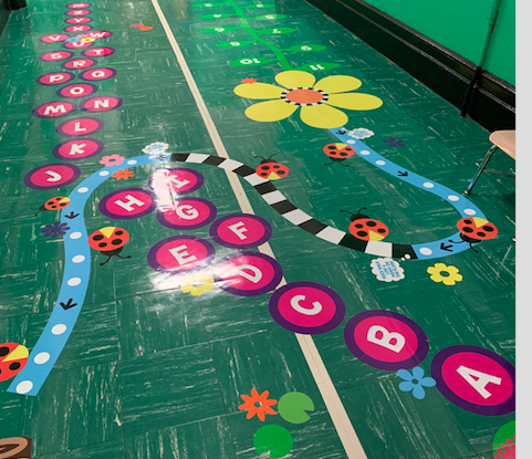 Our Sensory Hallway provides activities for students.