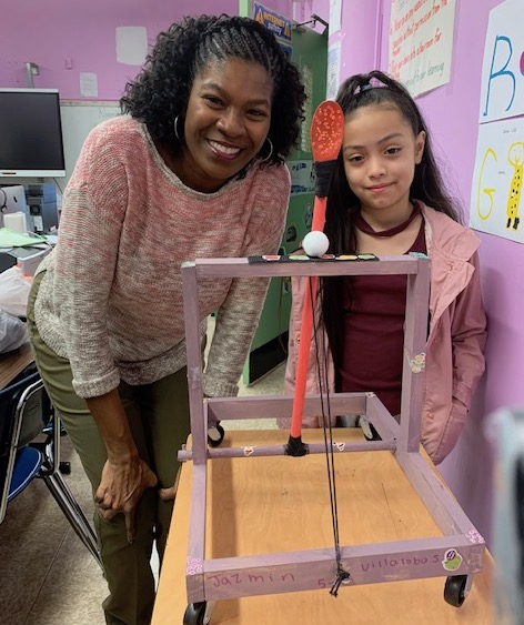 Ms. Harvey and 5th Grade Maker student