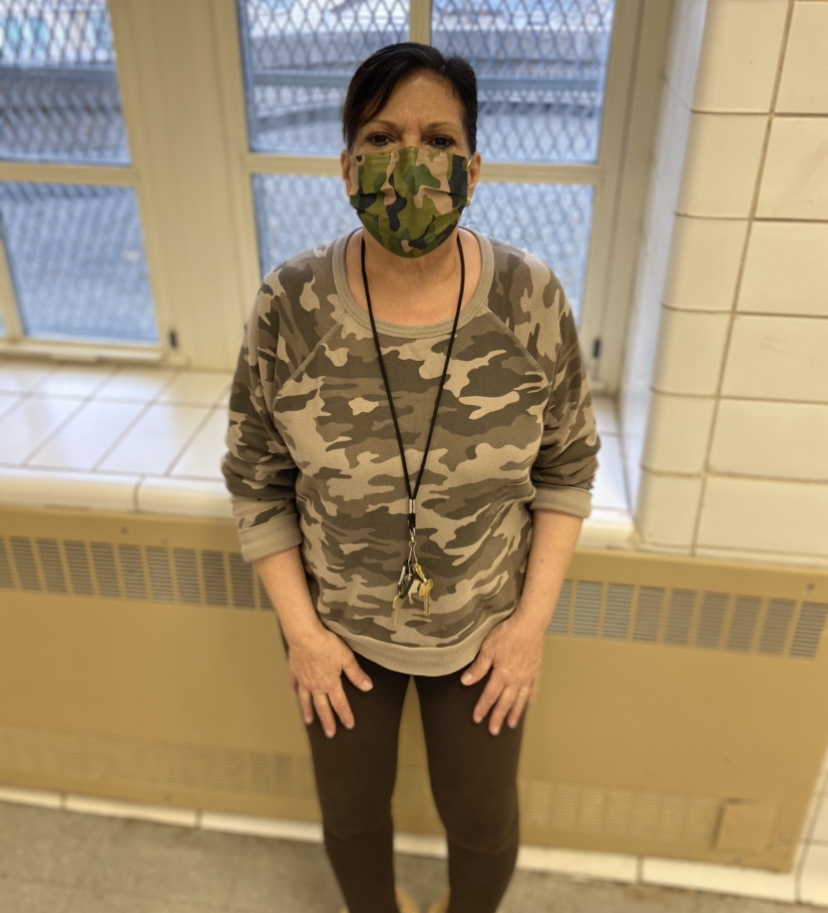 Laura in camouflage