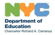 NYC Department of Education logo Chancellor Richard A. Carranza