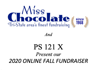 Miss Chocolate fundraising and PS121x Present our 2020 online fall fundraiser