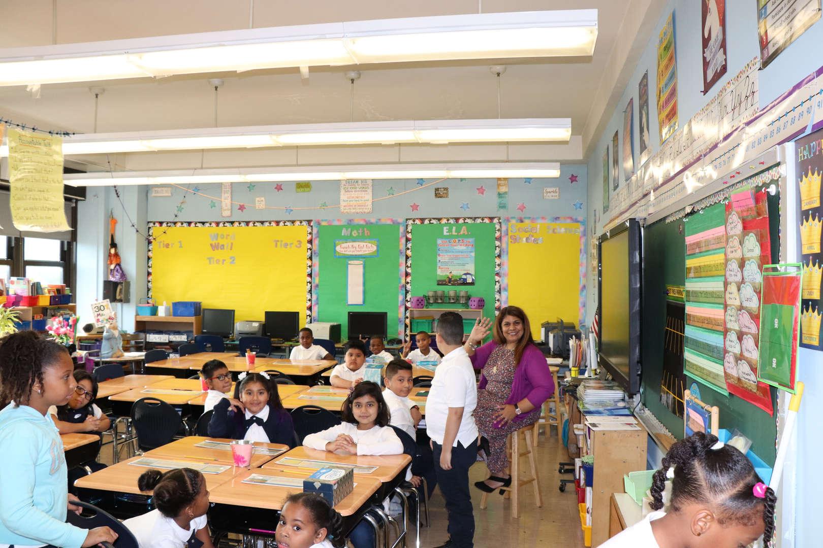Mrs. Rosado's students working hard.