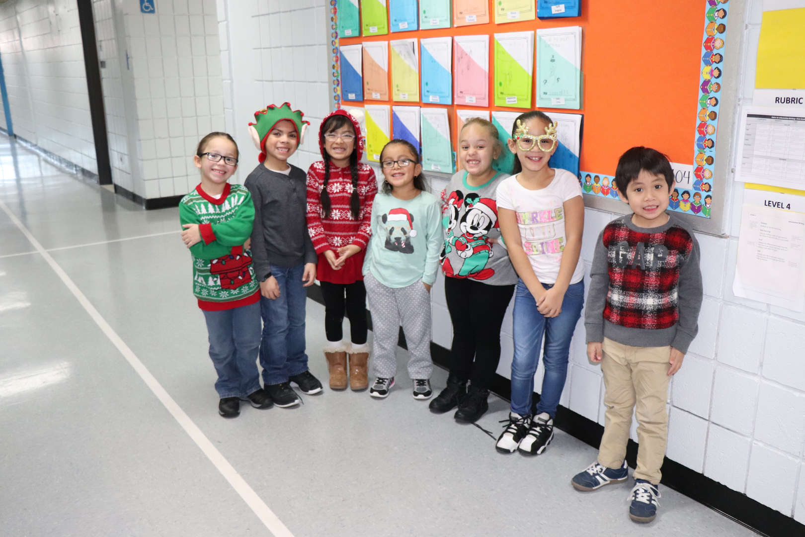 Some of Ms. Kinney's First Grade students.