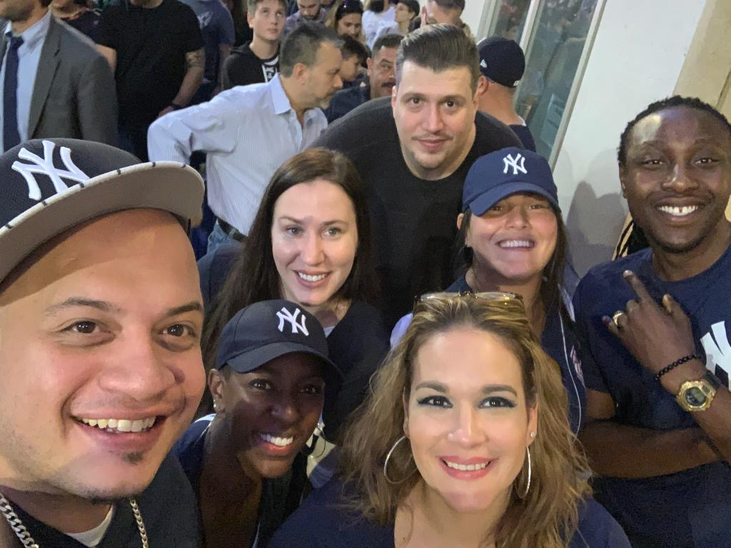 Administration at the Yankee game.
