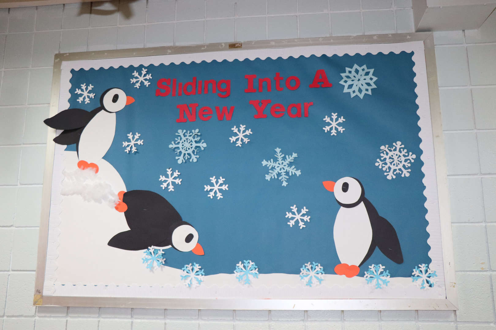 Another winter themed bulletin board in the main lobby.