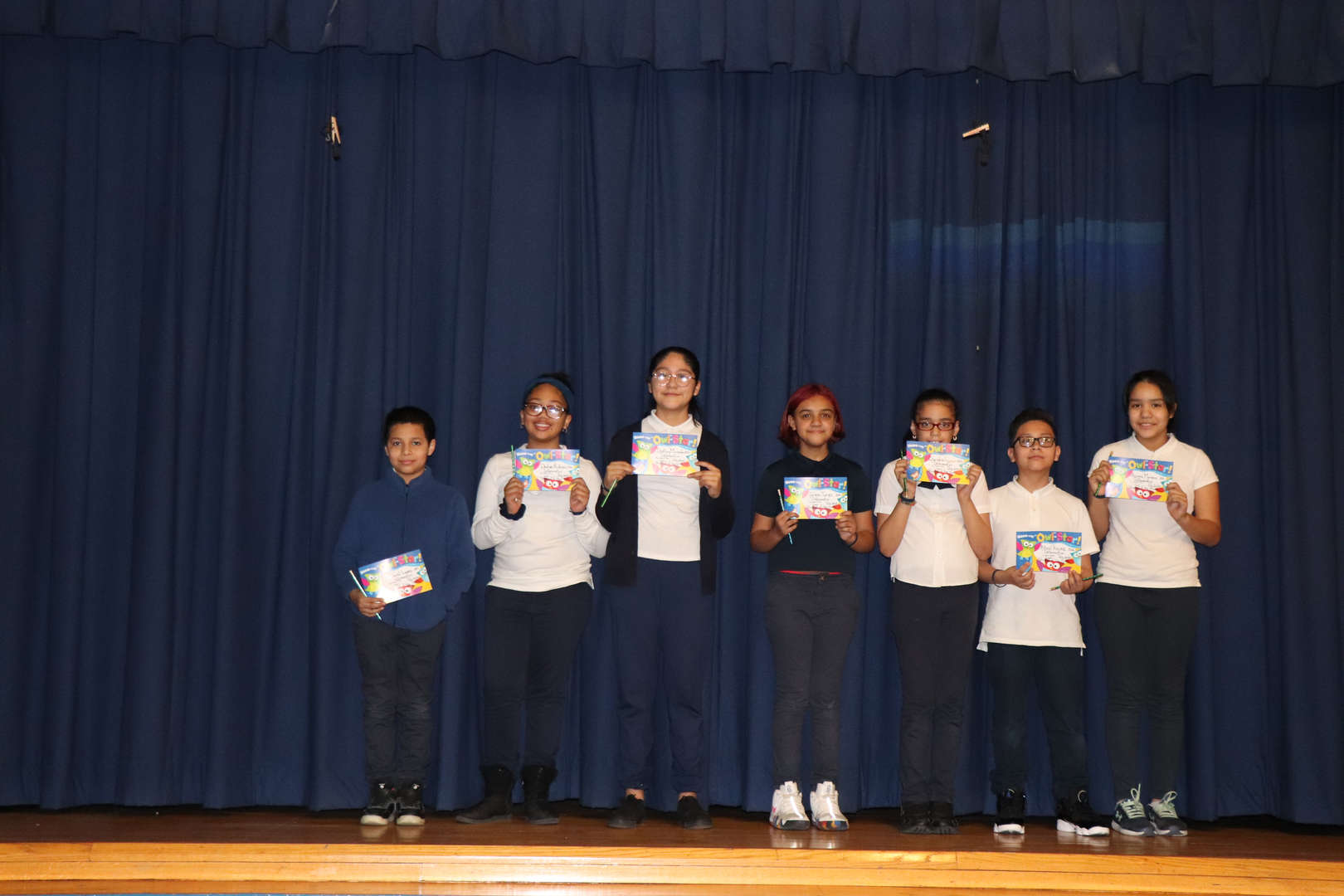 Fifth Grade students of the month.