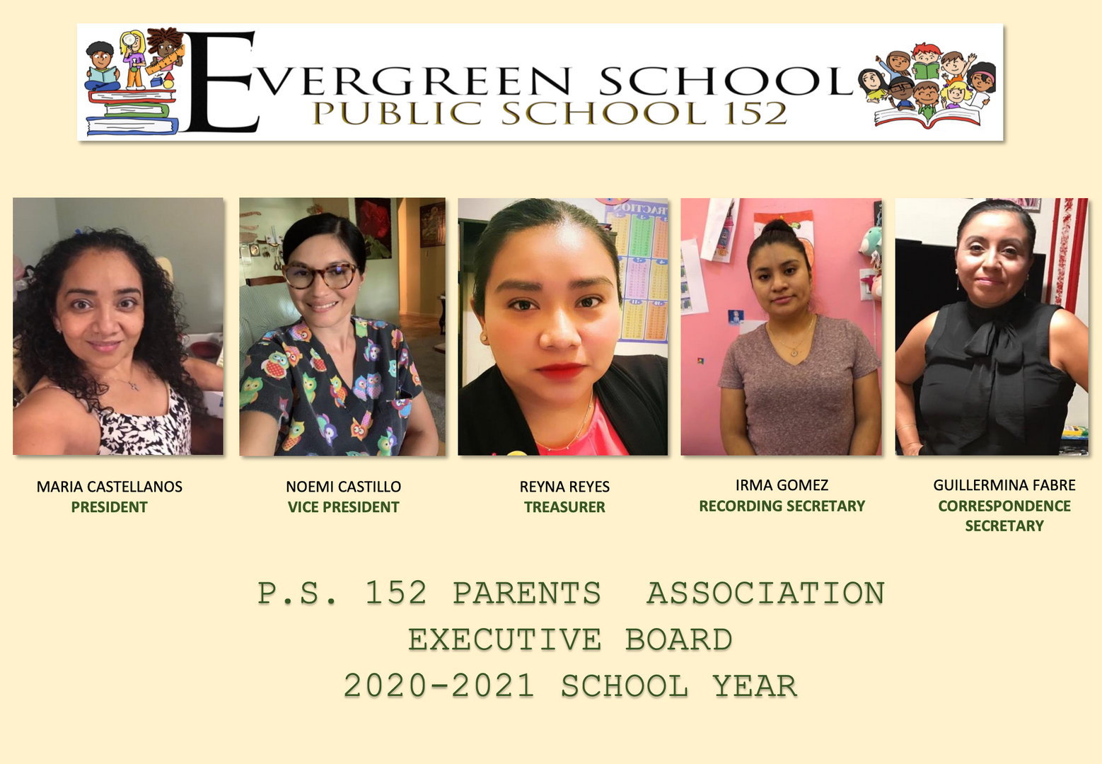 This is a picture of the PS 152 Parent Association Members.