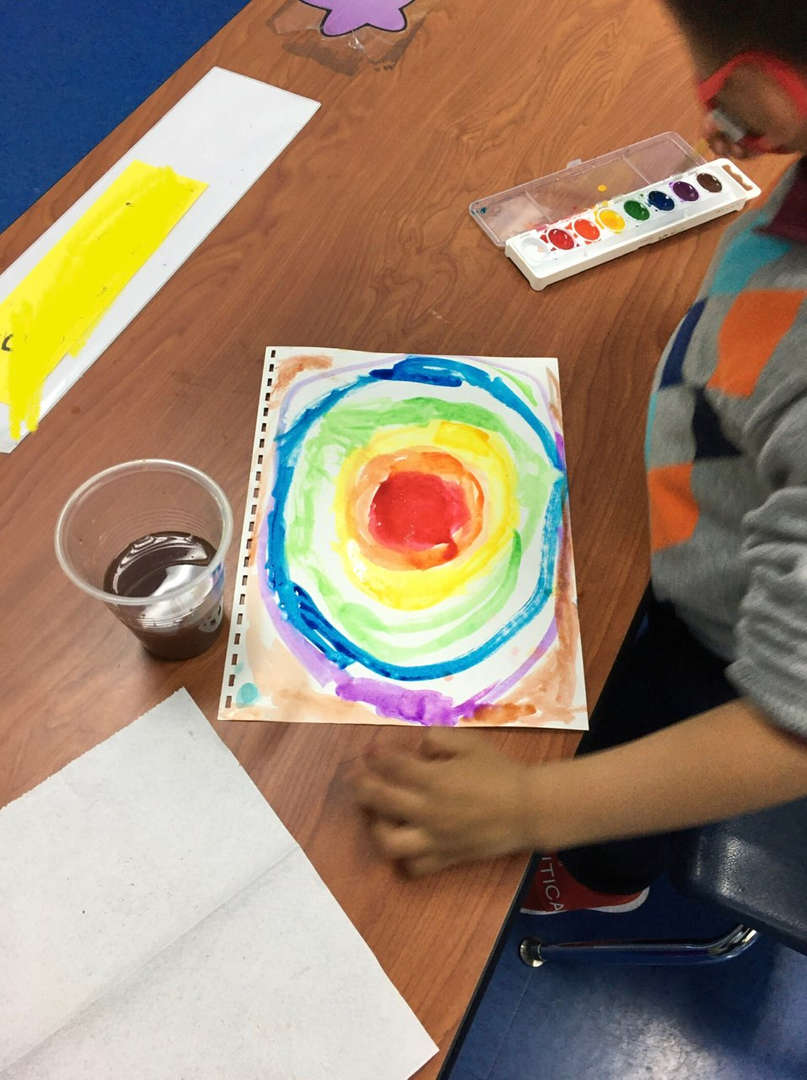 colorful painting to celebrate earth day