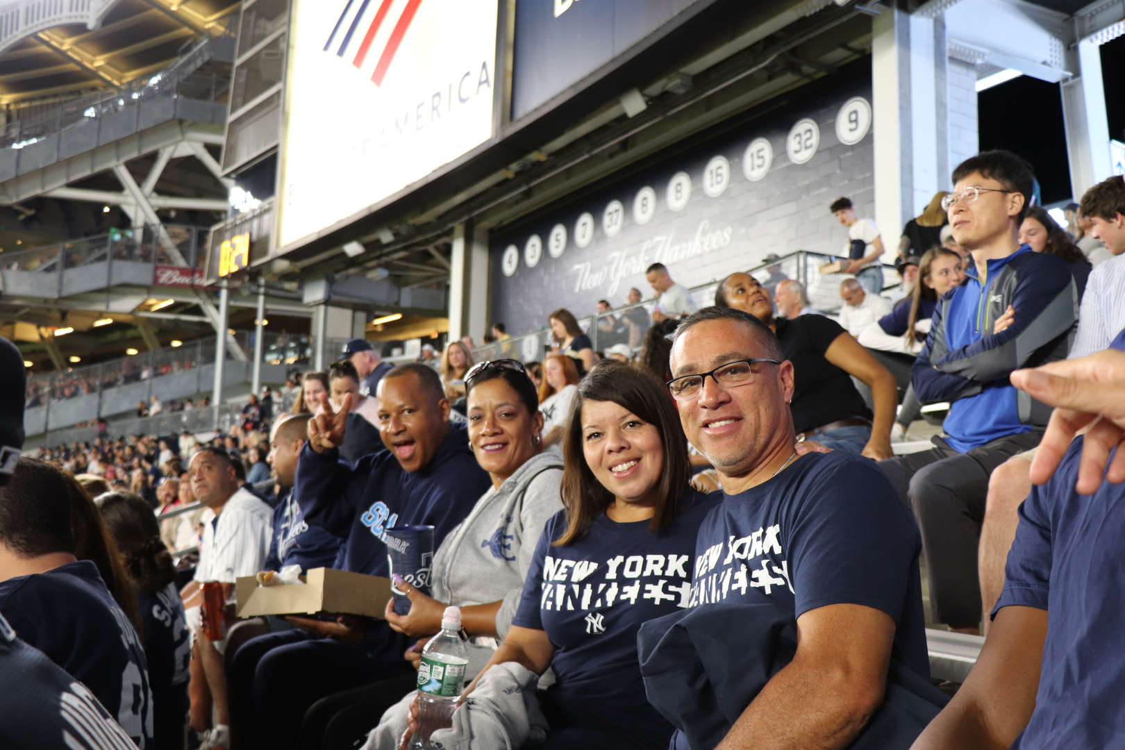 Some more of the PS 152 Staff at the Yankee game.
