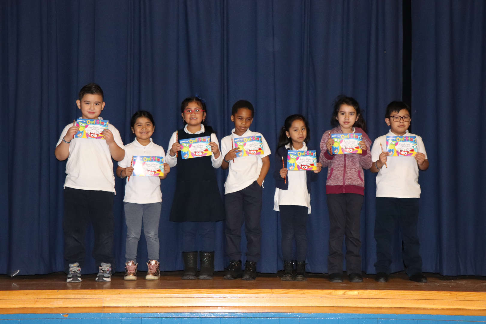 Second Grade students of the month.