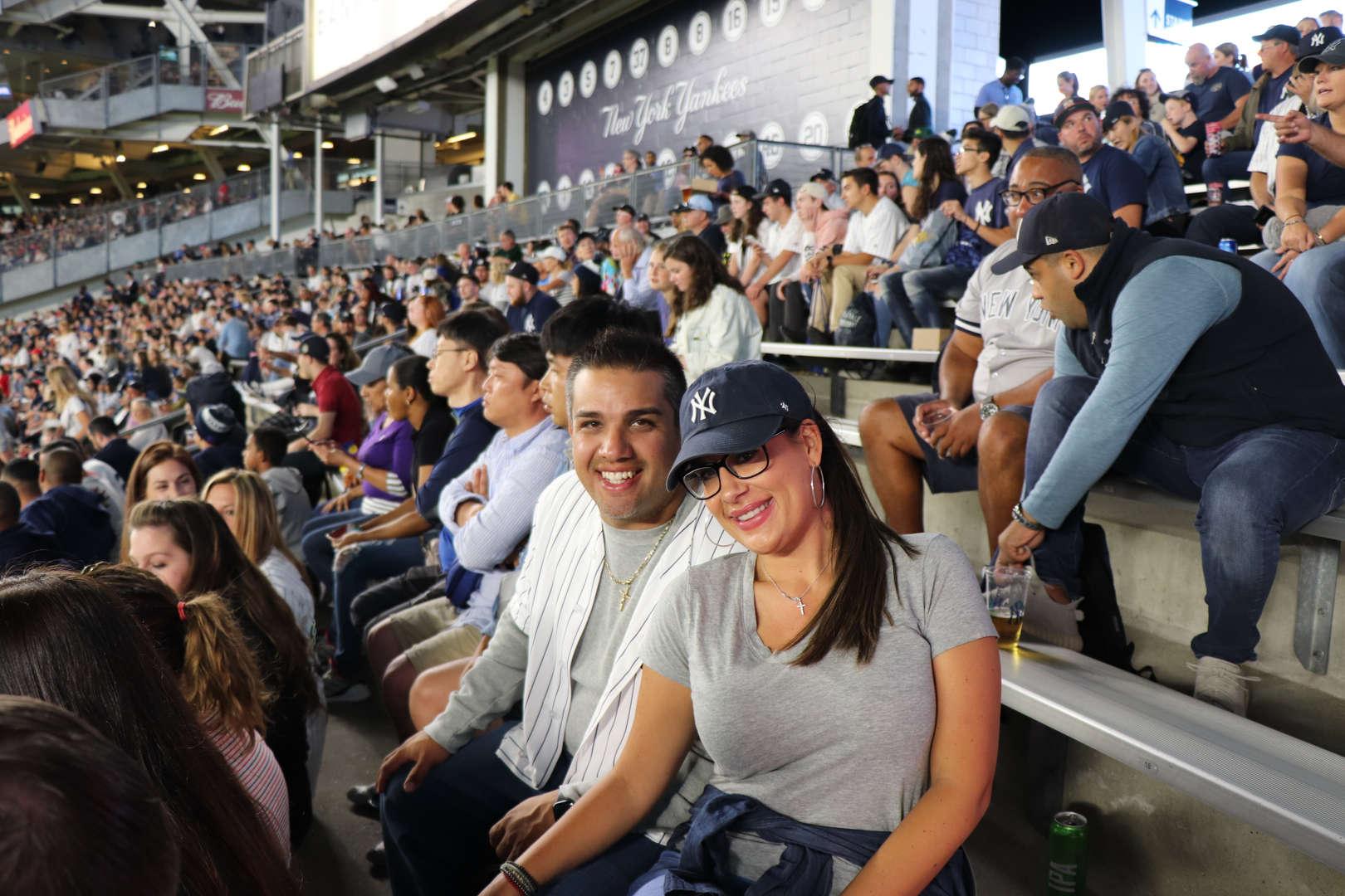 Teachers at the Yankee game.