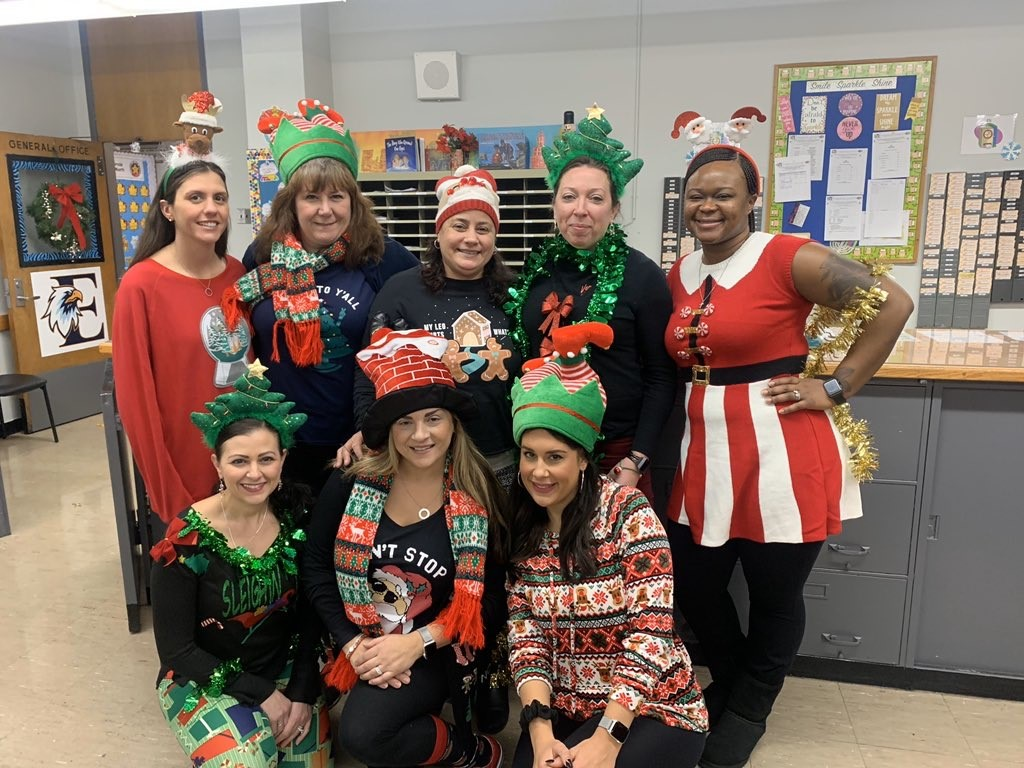 The Fifth Grade Team showing their festive side.