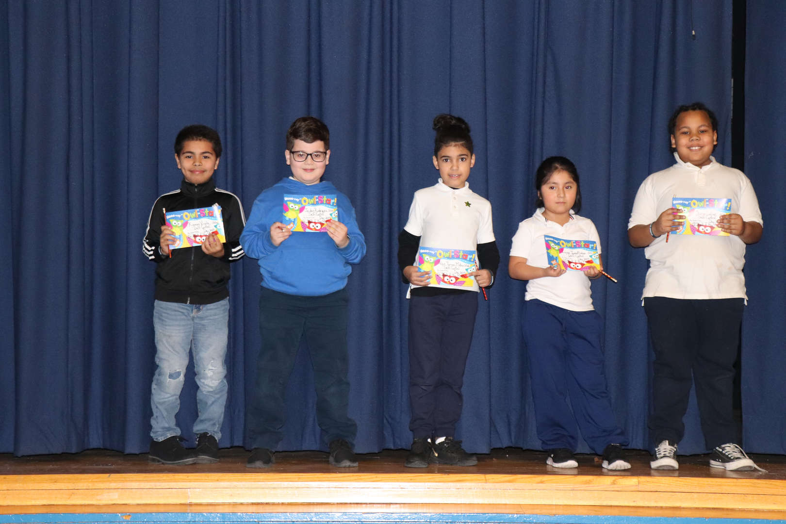 Third Grade students of the month.